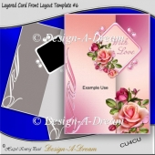 Layered Card Front Layout Template #6