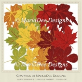 Fall Season 1 Colors Leaf Graphics
