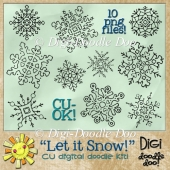 Let it Snow! - Snowflake - CU doodles