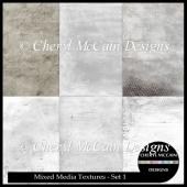 Mixed Media Texture Overlays - Set 1