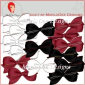Black Tie Affair Bow Graphics by MarloDee Designs