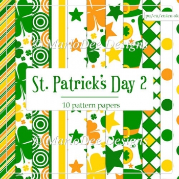 St. Patrick's Day Colors 2 - Pattern Papers 1
