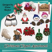 CU Christmas Clipart Assortment