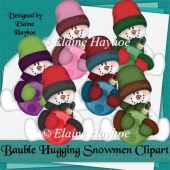 Bauble Hugging Snowmen