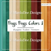 Bugs Bugs 1 Cardstock Digital Papers {A4 size}