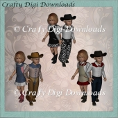 3 Sets Cowgirls And Boys