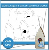 Birdhouse, Doghouse & Beach Hut Gift Box CU Templates