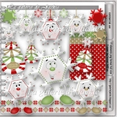 Christmas snowflakes 1 FS by GJ