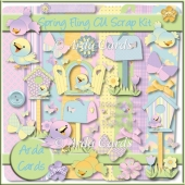 Spring Fling CU Scrap Kit