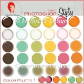 Color Palette 1 :: Photoshop Styles by MarloDee Designs