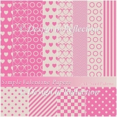 Simple Valentine Papers A - Pink-Sand Palette