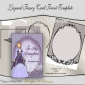 Layered Fancy Card Front Template