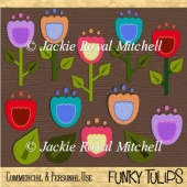 Funky Tulips clipart graphics