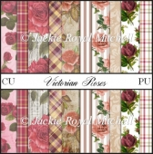 Victorian Roses Scrap Papers