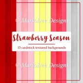 Strawberries in Season A4 size Card Stock Digital Papers