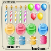 Party Cliparts 1 by Lemur Designs