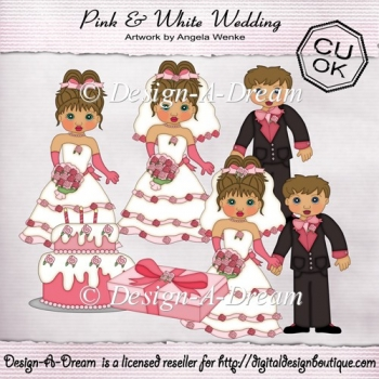 Pink & White Wedding