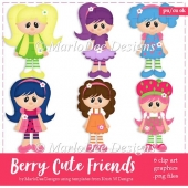 Berry Cute Friends Clip Art Collection
