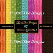 Halloween Colors A4 size Digital Papers Package 3