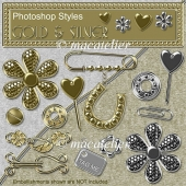 Photoshop Styles: Gold & Silver