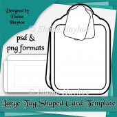 CU Large Tag Shaped Card Template