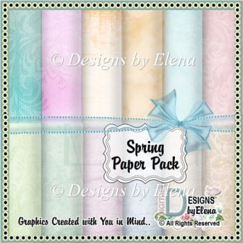 Spring Paper Pack
