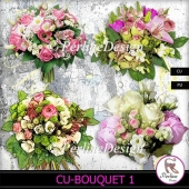 Wedding or festive bouquets of flowers in pastel colors