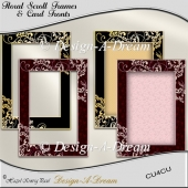 Floral Scroll Frames & Card Fronts