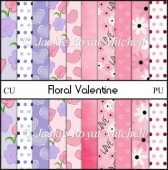 Floral Valentine Scrap papers