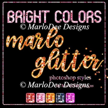Bright Colors Marlo Glitter Photoshop Styles