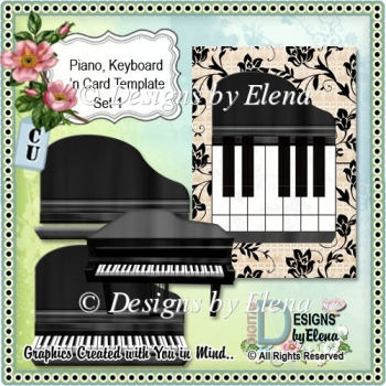 Piano, Keyboard and Card Template 1