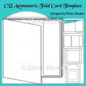 Aaymmetric Fold Card Template