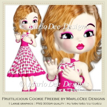 Fruitilicious Cookie Poser Freebie by MarloDee Designs