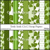 Truly Irish 12x12 scrap Papers