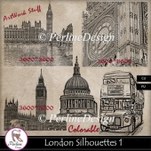 London Silhouettes - Artwork stuff colorable, big size