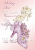 Wedding Shoes Clipart in lilac and ivory.