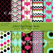 Japanese Blossom Digital Paper Pack