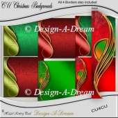 "Christmas Backgrounds & 12"" Borders"
