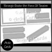 Large Rectangle Shadow Box Frame CU Template