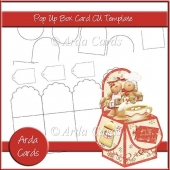 Pop Up Box Card CU Template