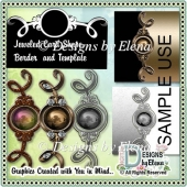 Jeweled Borders and Template