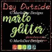 Day Outside Marlo Glitter Photoshop Styles
