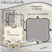 Scalloped Layered Bracket Mat
