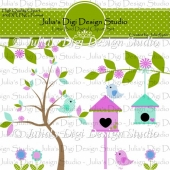 Little Bird Digital Clipart Set