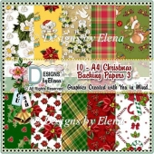 10 - A4 Christmas Backing Papers 3