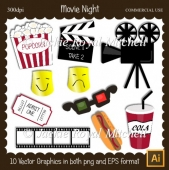Movie Night clipart Elements