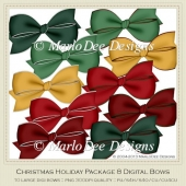 Christmas Holiday Package 8 Digital Bows by Marlo