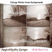 Vintage Winter Scene Backgrounds