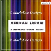 African Safari Card Stock Digital Paper Pack {A4 size}