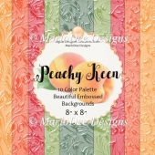 Peachy Keen 8x8 Color Palette Beautiful Embossed Backgrounds